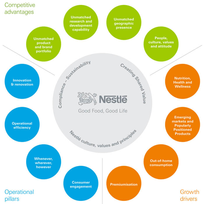 is nestle management structure and philosophy aligned with its overall strategic posture